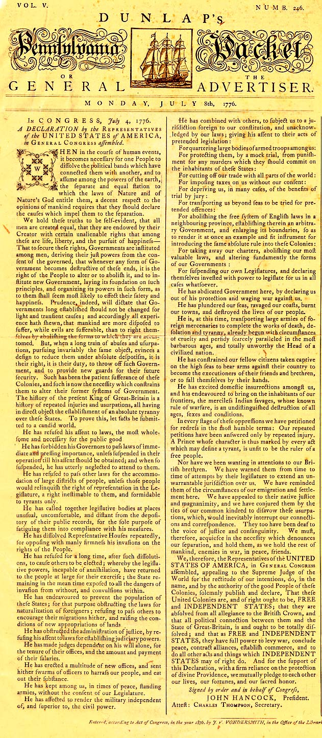 united states declaration of independence 7 essay United states declaration of independence and british parliament essays the declaration of independence was created one day the second continental congress had a meeting on july 2, 1776 thomas jefferson wrote the rough draft of the declaration in two days in his apartment in philadelphia.